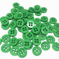 lot de 50 bouton scrapbooking 4 trou vert mercerie couture 9 mm couture