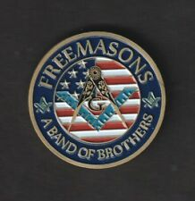 """Freemasons A Band Of Brothers Challenge Coin 1.5"""""""