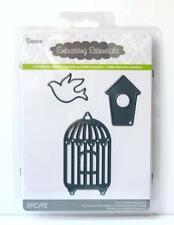 Darice Craft Dies BIRD CAGE BIRDHOUSE Die Cut Embossing Stencil Sizzix 2014-23