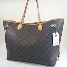 Auth Louis Vuitton Neverfull GM Monogram M40157 Initial Engraved Shoulder LC525