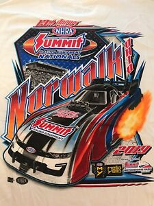 NHRA DRAG RACING 2019 SUMMIT RACING EQ NATIONALS WHITE T- SHIRT  SIZE 2X