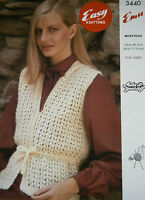 Original Vintage Emu Knitting Pattern Lady's Mohair Slipover No 3440