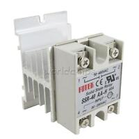 SSR-40AA 40A Solid State Relay Module 80-250V AC 24-380V  + Aluminum Heat Sink