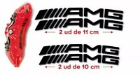 4 Pegatinas sticker pinzas de freno caliper Amg Mercedes Benz 10 y 11 cm