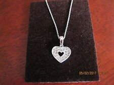 """Beautiful  Heart Necklace made with Swarovski Elements 16"""" Chain - Brand new"""