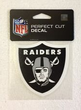 "Oakland Raiders 4"" x 4"" Team Logo Truck Car Auto Window Die Cut Decal Color New"