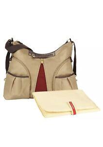 NWT Skip Hop Versa Expandable Baby Diaper Bag W Changing Pad Khaki Nylon