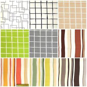 100% Algodón Canvas Tela Venta por Metro Mueble Deco Vestimenta Rayas a Cuadros
