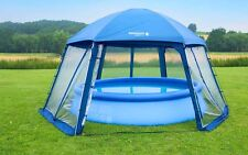 Pooldach 600 x 520 x 280 cm für Aufstellpools Poolüberdachung Pool Dach