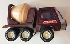 Buddy L Toy Concrete Mixer Truck Maroon Pressed Steel Vintage 1970's Works Japan