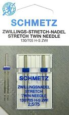 2 Stück Schmetz Stretch Zillingsnadel Twin Nadel 2,5/75 System 130/705