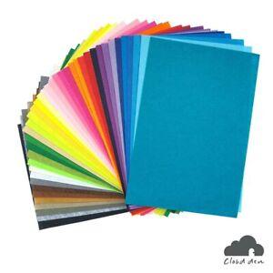 Felt Fabric A4 DIY Kids Craft Paper Supplies 1mm x40, 20x30cm Assorted Colours
