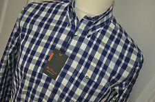 BEN SHERMAN RETRO MOD BLUE CHECK SHIRT SIZE S...(NEW WITH TAGS)