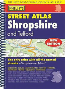 Philip's Street Atlas Shropshire and Telford Philip's Maps Book
