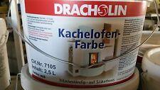 Dracholin Farbe für Kamine und Öfen Anstrich Kachelofenfarbe Kaminfarbe weiß