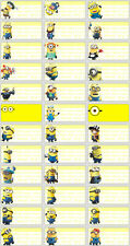 120 Minions pictures personalised name label (Small size)