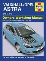Vauxhall  Opel Astra Dec 2009 - 2013 Haynes Manual 5578 NEW