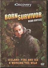 BORN SURVIVOR BEAR GRYLLS - ICELAND; FIRE AND ICE & WORKING THE WILD DVD