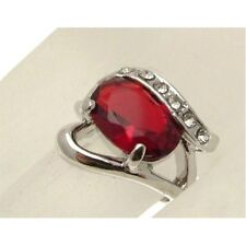 Fashion Jewellery Ring Statement Ring red plastic gem 0-P or 17.75 - CR2