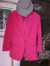 Beautiful Fushia colored LIZWEAR Ladies Jacket/Blazer size 8 VG Condition beauti