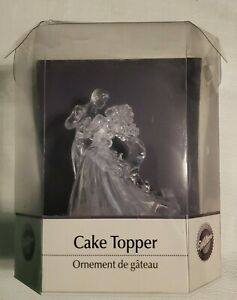 Wilton Industries Inc. Bianca Clear Cake Topper Wedding Couple - New Open Box -