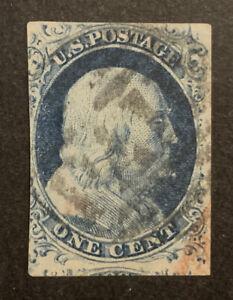 TDStamps: US Stamps Scott#9 1c Franklin Used