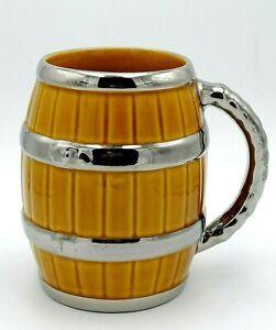 Vintage Wade Barrel Mug Tankard Silver Colour Handles