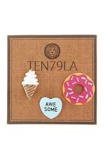 Ice Cream Cone, Doughnut, & Awesome Pins - Set of 3