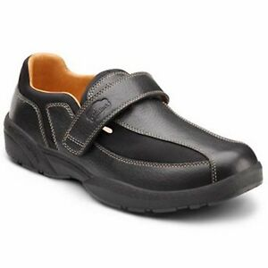 Dr Comfort Douglas Mens Leather Diabetic Shoes W Gel Inserts - Removable Insoles