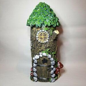 Garden Fairy Or Gnome Tree Trunk House