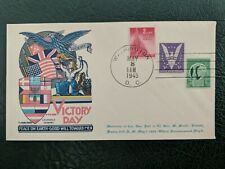 1945 Fluegel Patriotic Postal Cover WWII Victory Day Europe Peace Staehle Cachet