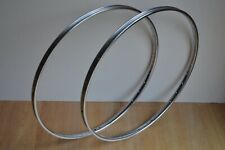 Vintage Pair of Chrome Steel Rims 36 Hole 700c