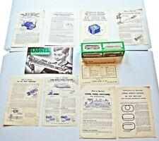 Vintage Lionel Train Accessories 1950s Catalog Instruction Booklets Lot 10 + Box