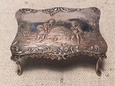 Antique German 800 Silver Miniature Scenic Ornate Table