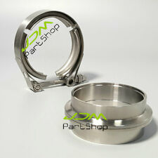 "3.0"" Inch 76mm V-Band Clamp Flange Kit Turbo Exhaust Down Pipe Stainless Steel"