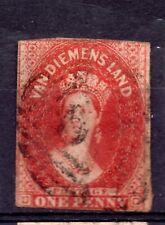 Australia - Van Diemens Land - Tasmania  (4665) 1855  Queen Victoria 1d Carmine