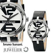 Bruno Banani Herren Uhr Armbanduhr aus Leder BR21035