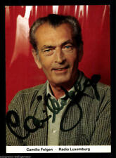 Camillo Felgen TOP AK 80er J. Orig. Sign. Radio Luxemburg +41359 + 84252