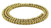 😏 Hämatit goldfarbene Kugeln in 2 oder 3 mm Perlen Strang Saatperlen 😉
