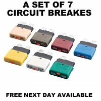 CIRCUIT BREAKER RESETABLE BLADE TYPE  FUSE 12V 24V, CAR VAN TRUCK MARINE, QTY 7