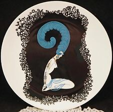 Erte Plate Art Deco Style Nude The Numerals Bone China Japan 1986 Number 2 Boxed