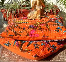 """India Handmade Kantha Home Decor Pair-Pillow-Cushion Cover Sofa Throw 16"""""""