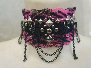 Gothic Halsband Collier Kette Choker Victorian Lolita Steampunk Top Rock Spitze