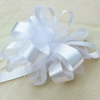 20 LARGE PEW PULL BOWS NET TULLE PERFECT CHURCH HOME CHAIR WEDDING DECORATIONS
