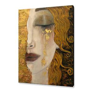 Golden Tears Freya Anne Zilberman Klimt Style canvas print picture wall art