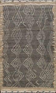 Vegetable Dye Modern Moroccan Berber Oriental Area Rug Plush Wool Handmade 8x10