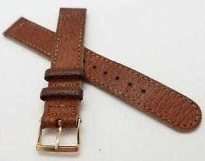 "WALTHAM,16mm,R 40's ""Pigskin Congnac Brown Leather"" MEN'S WATCH BAND,B16-34"