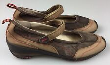 "JAMBU ""FORMOSA"" Two Tone Brown Suede Mary Janes Women's Size 10 M"