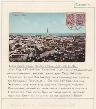 Estonia. 1918 Postcard from Reval to England. Delayed Delivery?