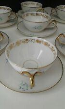 tasse a cafe en porcelaine fine et or-lot de 8-limoges ou porcelaine de paris